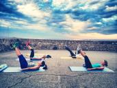 "Outdoor training in Antibes with MY Nirvana CREW | Hard work with Pilates ""hundreds"""