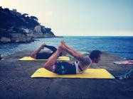 "Pilates for Cyclists in Nice | Rock climber and cyclist Harry achieving ""rocking prep"""