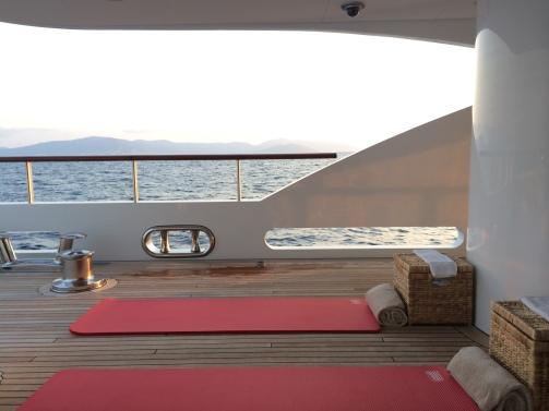 CREW Pilates training on board in Sardinia   Setup