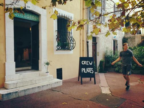 The Antibes Running Club leaves from the CREW Pilates Studio every week